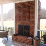 Fireplace built into Screen Porch