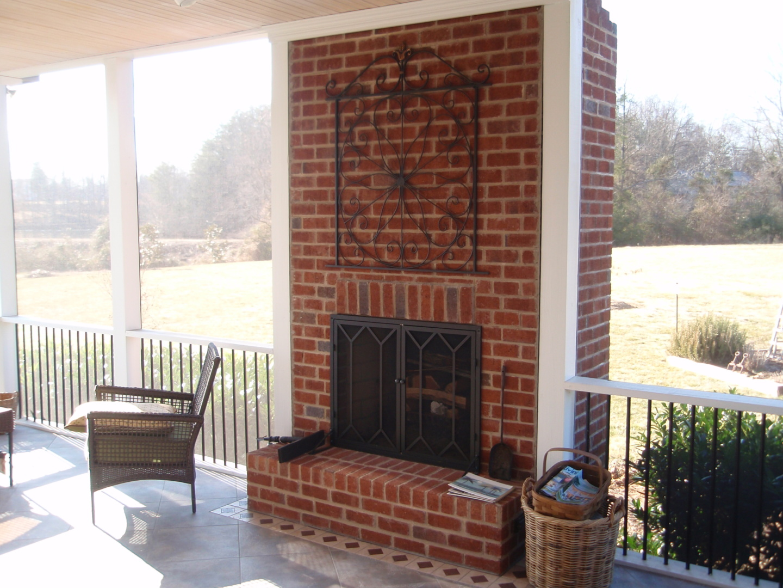 Screen Porch Fireplace