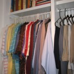 Custom Clothes Shelves in Master Closet