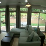 Sunroom Wall Full of Windows to New Landscaping