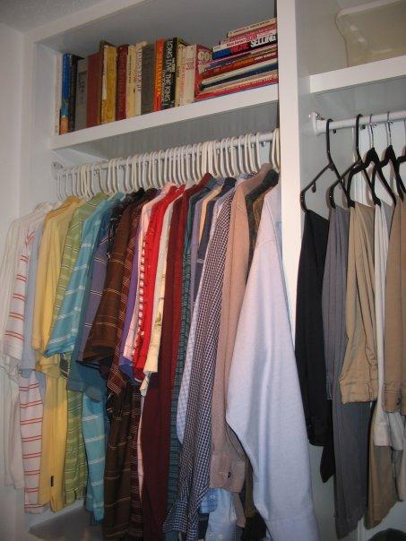 Custom Clothes Shelves in Master Closet