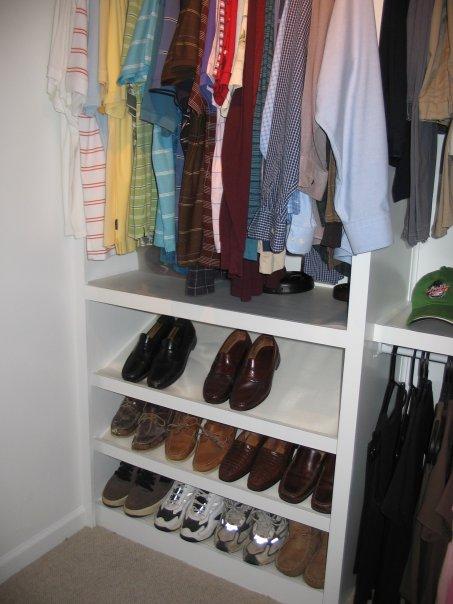 Custom Shoe Shelves